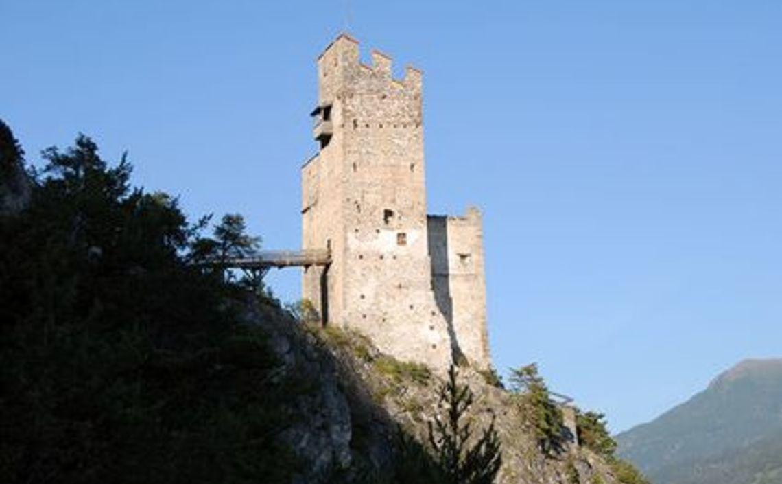 Beleuchtung Ruine Schrofenstein